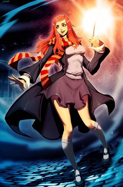 Tags: Anime, GENZOMAN, Harry Potter, Ginny Weasley, Amgic, Mobile Wallpaper, Fanart