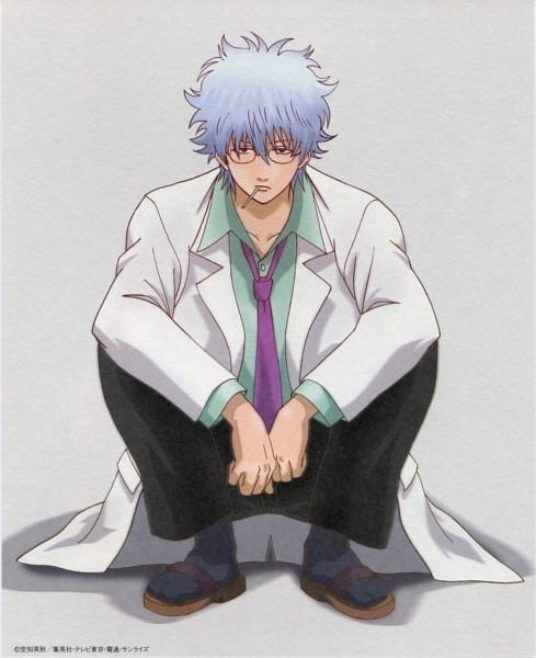 Tags: Anime, Sunrise (Studio), Gintama, Ginpachi-sensei, Sakata Gintoki, Scan, 3z, DVD (Source), Official Art