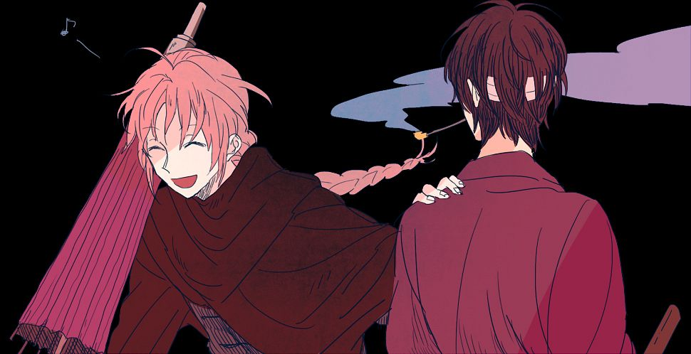 Tags: Anime, Ura, Gintama, Kamui (Gin Tama), Takasugi Shinsuke, Fanart, Pixiv, Facebook Cover, Silver Soul