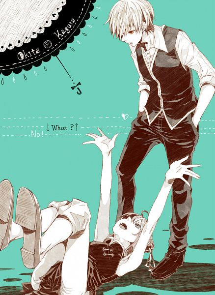 Tags: Anime, Pixiv Id 1260775, Gintama, Kagura (Gin Tama), Okita Sougo, Fanart, Pixiv, Mobile Wallpaper, OkiKagu