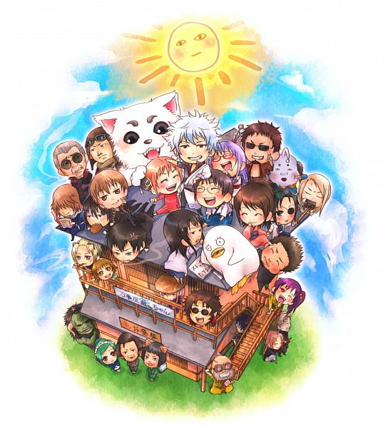 Tags: Anime, Pixiv Id 2629197, Gintama, Kagura (Gin Tama), Ko Elizabeth, Abuto, Hijikata Toushirou, Yamazaki Sagaru, Tsukuyo, Hedoro (Gin Tama), Sakamoto Tatsuma, Otose (Gin Tama), Tojo Ayumu, Silver Soul