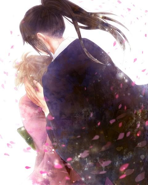 Tags: Anime, Pixiv Id 4124032, Gintama, Hijikata Toushirou, Okita Mitsuba, Pixiv, Fanart From Pixiv, Fanart, HijiMitsu, Silver Soul