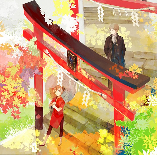 Tags: Anime, Nineo, Gintama, Kagura (Gin Tama), Okita Sougo, Fanart From Pixiv, Fanart, Pixiv, OkiKagu, Silver Soul