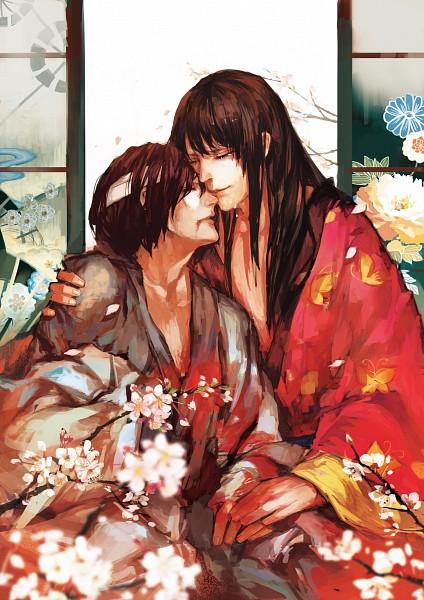 Tags: Anime, *Missingcat318, Gintama, Takasugi Shinsuke, Katsura Kotaro, Mobile Wallpaper, Pixiv, Fanart From Pixiv, Fanart, TakaZura, Silver Soul