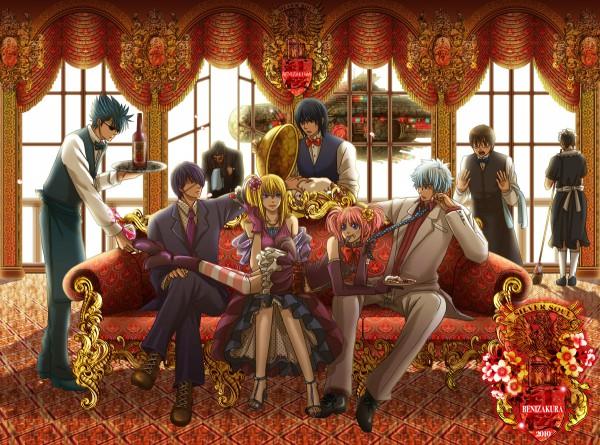 Tags: Anime, Eriyama, Gintama, Kijima Matako, Kawakami Bansai, Takasugi Shinsuke, Kagura (Gin Tama), Sakata Gintoki, Takechi Henpeita, Shimura Shinpachi, Okada Nizou, Katsura Kotaro, Party, Silver Soul