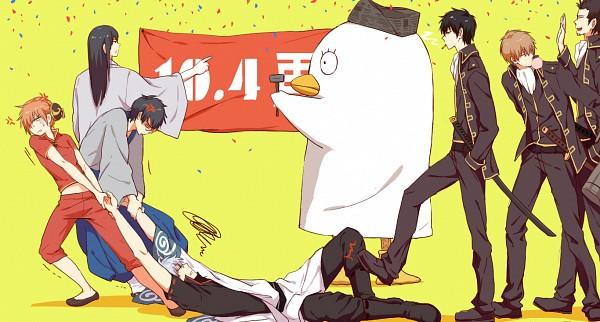 Tags: Anime, Feiqiuxuan, Gintama, Katsura Kotaro, Ko Elizabeth, Okita Sougo, Kondo Isao, Hijikata Toushirou, Kagura (Gin Tama), Sakata Gintoki, Shimura Shinpachi, Fanart From Pixiv, Facebook Cover, Silver Soul