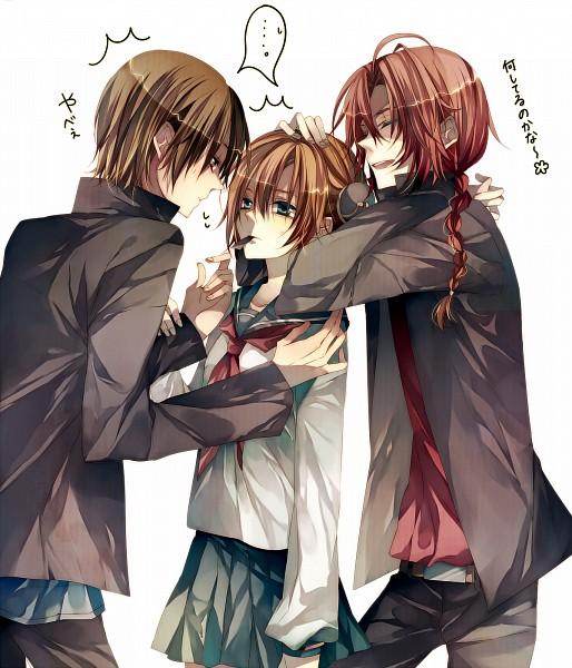 Tags: Anime, Tsukioka Tsukiho, Gintama, Kamui (Gin Tama), Kagura (Gin Tama), Okita Sougo, Kombu, Replacement Request, 3z, OkiKagu, Silver Soul