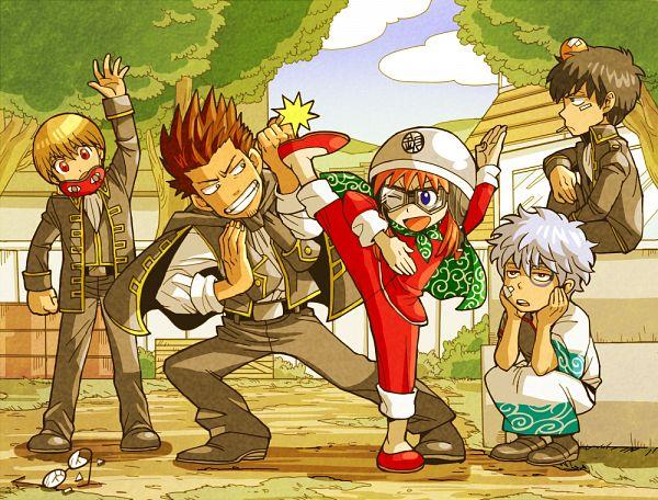 Tags: Anime, mm, Gintama, Sakata Gintoki, Kagura (Gin Tama), Shimura Shinpachi, Okita Sougo, Hijikata Toushirou, Kondo Isao, Sleep Mask, Bump, Pixiv, Fanart From Pixiv, Silver Soul