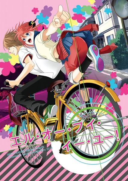 Tags: Anime, Pixiv Id 1051451, Gintama, Kagura (Gin Tama), Okita Sougo, Fanart From Pixiv, Fanart, Mobile Wallpaper, Pixiv, 3z, OkiKagu, Silver Soul