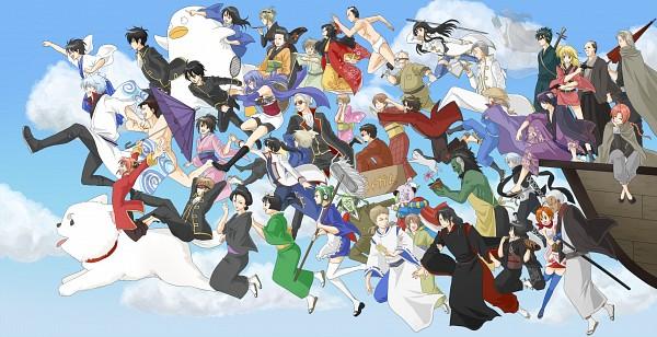 Tags: Anime, Pixiv Id 1886402, Gintama, Takechi Henpeita, Kawakami Bansai, Ketsuno Ana, Sarutobi Ayame, Houichi (Gin Tama), Ko Elizabeth, Yoshida Shouyou, Yagyuu Kyuubei, Ketsuno Seimei, Yamazaki Sagaru, Silver Soul