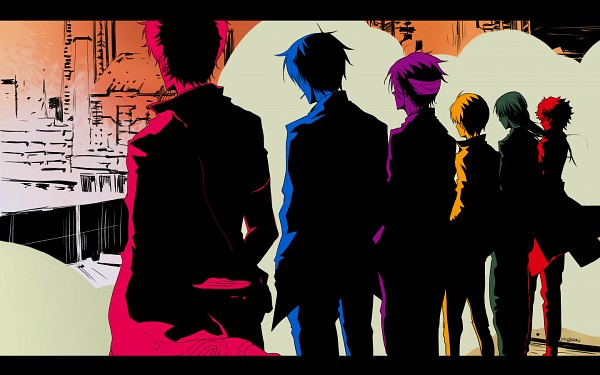 Tags: Anime, Pixiv Id 33151564, Gintama, Takasugi Shinsuke, Sakamoto Tatsuma, Sakata Gintoki, Katsura Kotaro, Okita Sougo, Hijikata Toushirou, PSYCHO-PASS (Parody), Fanart, Pixiv, Wallpaper, Silver Soul