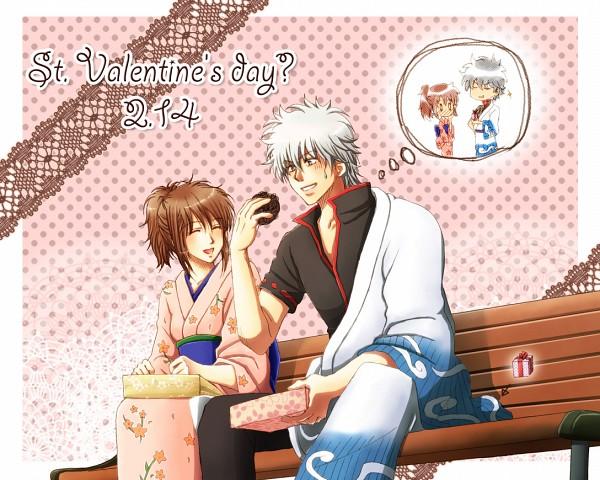 Tags: Anime, Kazuha (Pixiv 512083), Gintama, Shimura Tae, Sakata Gintoki, Inedible Food, Fanart, Pixiv, Fanart From Pixiv, GinTae, Silver Soul