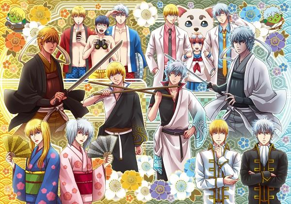 Tags: Anime, Eriyama, Mameshiba (Series), Gintama, Shiroyasha, Ginpachi-sensei, Paako, Kagura (Gin Tama), Sakata Kintoki (Kin Tama), Shimura Shinpachi, Mameshiba (Character), Sadaharu, Sakata Gintoki, Silver Soul