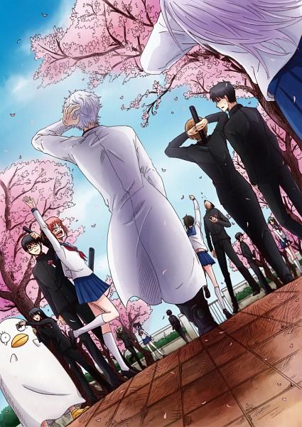 Tags: Anime, Pixiv Id 3329522, Gintama, Ko Elizabeth, Shimura Tae, Okita Sougo, Yamazaki Sagaru, Kagura (Gin Tama), Tojo Ayumu, Hijikata Toushirou, Kondo Isao, Shimura Shinpachi, Tama (Gin Tama), Silver Soul