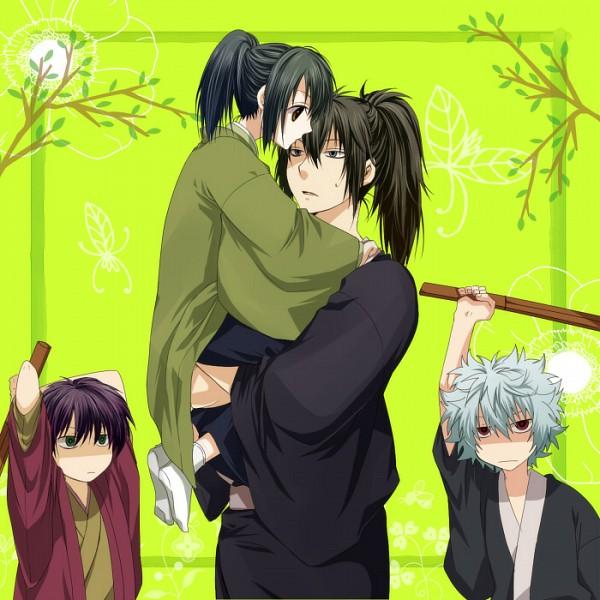 Tags: Anime, Pixiv Id 124737, Gintama, Sakata Gintoki, Katsura Kotaro, Hijikata Toushirou, Takasugi Shinsuke, Pixiv, HijiZura, Silver Soul