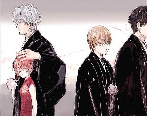 Tags: Anime, Pixiv Id 4277119, Gintama, Kagura (Gin Tama), Okita Sougo, Hijikata Toushirou, Sakata Gintoki, Fanart From Pixiv, Pixiv, Fanart, OkiKagu, Silver Soul