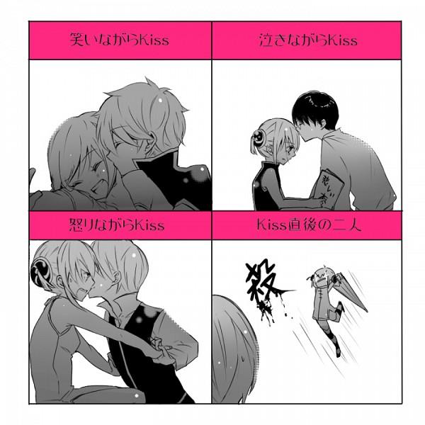 Tags: Anime, Meno (Pixiv933830), Gintama, Kagura (Gin Tama), Shimura Shinpachi, Okita Sougo, Sakata Gintoki, ShinKagu, OkiKagu, GinKagu, Silver Soul