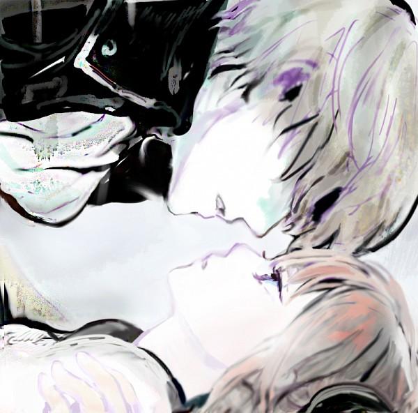 Tags: Anime, Pixiv Id 4277119, Gintama, Kagura (Gin Tama), Okita Sougo, Sketch, Fanart From Pixiv, Fanart, Pixiv, Revision, OkiKagu, Silver Soul
