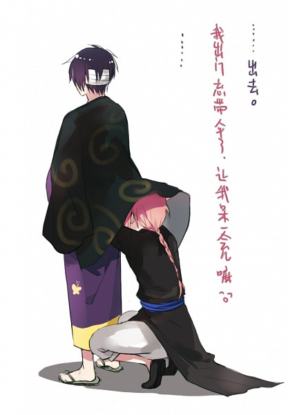 Tags: Anime, 13knight, Gintama, Takasugi Shinsuke, Kamui (Gin Tama), Flip Flops, Pixiv, Fanart From Pixiv, Translated, Fanart, Mobile Wallpaper, TaKamui