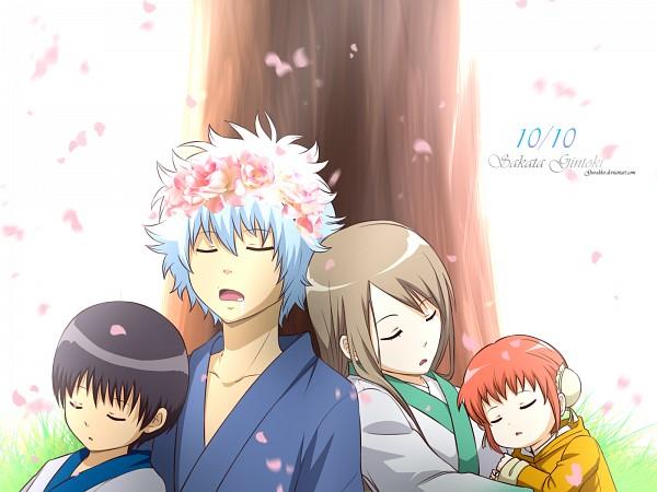 Tags: Anime, Gurakko, Gintama, Sakata Gintoki, Niimura Yuhi, Kagura (Gin Tama), Shimura Shinpachi, Fanart, deviantART, Fanart From DeviantART, Self Made, Wallpaper