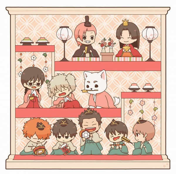 Tags: Anime, Pixiv Id 540, Gintama, Yamazaki Sagaru, Okita Sougo, Pachie, Kondo Isao, Hijikata Toushirou, Sadaharu, Sakata Gintoki, Kagura (Gin Tama), Saitou Shimaru, Paako, Silver Soul