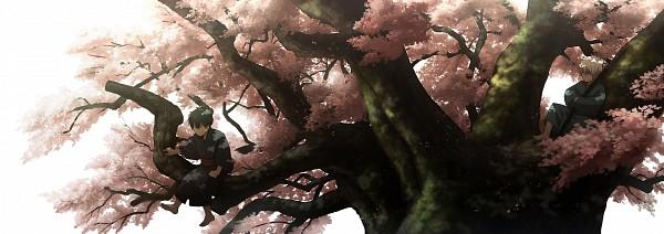Tags: Anime, Abaraya, Gintama, Hijikata Toushirou, Sakata Gintoki, Fanart, Twitter Header, Pixiv, Fanart From Pixiv, Silver Soul