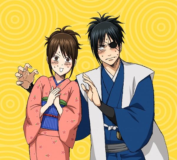 Tags: Anime, Pixiv Id 2049403, Gintama, Shimura Tae, Yagyuu Kyuubei, Fanart, Dekoboko Arc, Pixiv, Fanart From Pixiv, KyuuTae, Silver Soul