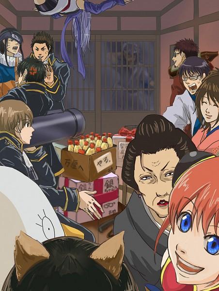 Tags: Anime, Pixiv Id 14331980, Gintama, Ko Elizabeth, Sarutobi Ayame, Okita Sougo, Otose (Gin Tama), Shimura Tae, Hijikata Toushirou, Hasegawa Taizou, Kagura (Gin Tama), Sakata Gintoki, Kondo Isao, Silver Soul