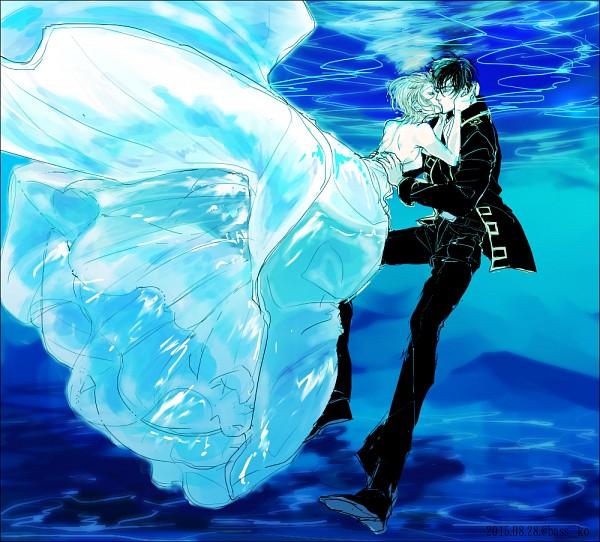 Tags: Anime, Pixiv Id 3397346, Gintama, Okita Mitsuba, Hijikata Toushirou, PNG Conversion, Fanart, Pixiv, Fanart From Pixiv, HijiMitsu, Silver Soul