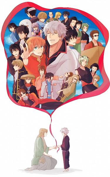 Tags: Anime, Pixiv Id 2750239, Gintama, Hattori Zenzou, Tama (Gin Tama), Sakata Gintoki, Kagura (Gin Tama), Catherine (Gin Tama), Okita Sougo, Yamazaki Sagaru, Mutsu (Gin Tama), Sakamoto Tatsuma, Ko Elizabeth, Silver Soul