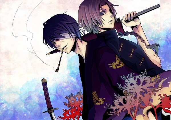 Tags: Anime, Domco, Gintama, Kamui (Gin Tama), Takasugi Shinsuke, PNG Conversion, Fanart, Fanart From Pixiv, Pixiv, Silver Soul