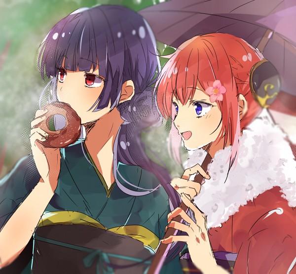 Tags: Anime, Pixiv Id 11090805, Gintama, Kagura (Gin Tama), Imai Nobume, Pixiv, Fanart From Pixiv, Fanart, PNG Conversion, Silver Soul