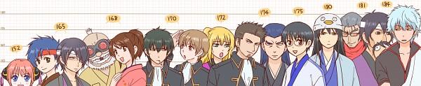 Tags: Anime, Pixiv Id 10249426, Gintama, Sakata Gintoki, Kondo Isao, Murata Tetsuya, Katsura Kotaro, Shimura Tae, Okita Sougo, Takechi Henpeita, Murata Tetsuko, Hijikata Toushirou, Okada Nizou, Silver Soul