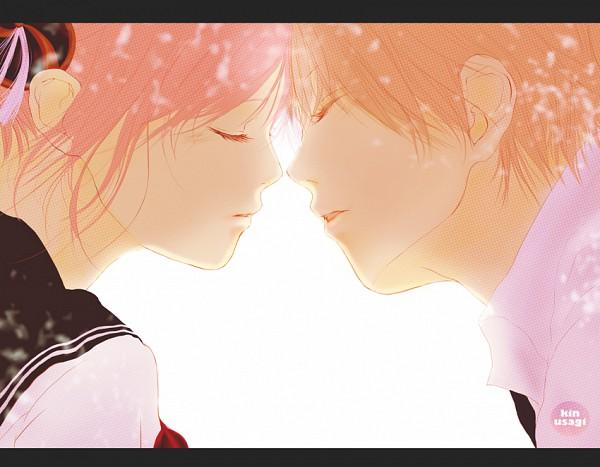 Tags: Anime, Kin Usagi, Gintama, Okita Sougo, Kagura (Gin Tama), Pixiv, 3z, Fanart, OkiKagu, Silver Soul