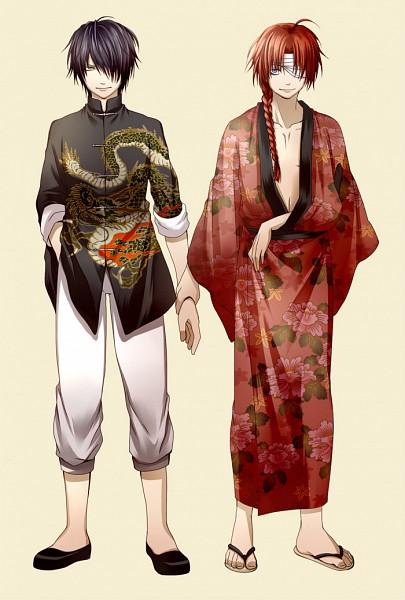 Tags: Anime, Yasshaa, Gintama, Kamui (Gin Tama), Takasugi Shinsuke, Kamui (Gin Tama) (Cosplay), Takasugi Shinsuke (Cosplay), Mobile Wallpaper, TaKamui, Silver Soul