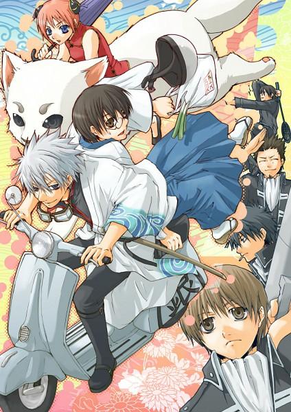 Tags: Anime, Amamoto Kou, Gintama, Kondo Isao, Okita Sougo, Sadaharu, Hijikata Toushirou, Kagura (Gin Tama), Sakata Gintoki, Yamazaki Sagaru, Shimura Shinpachi, Scooter, Fanart
