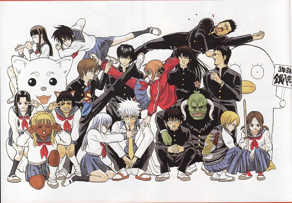 Tags: Anime, Gintama, Kagura (Gin Tama), Catherine (Gintama), Sakata Gintoki, Sadaharu, Hanako (Gintama), Shimura Shinpachi, Ko Elizabeth, Kimiko (Gintama), Oryou (Gintama), Katsura Kotaro, Mone (Gintama)