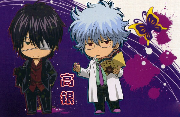 Tags: Anime, Gintama, Ginpachi-sensei, Takasugi Shinsuke, Sakata Gintoki, Official Art, 3z, Scan