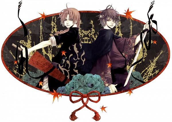 Tags: Anime, Azuma Yuuki (Pixiv120419), Gintama, Takasugi Shinsuke, Kamui (Gin Tama), Pixiv, Fanart, Silver Soul