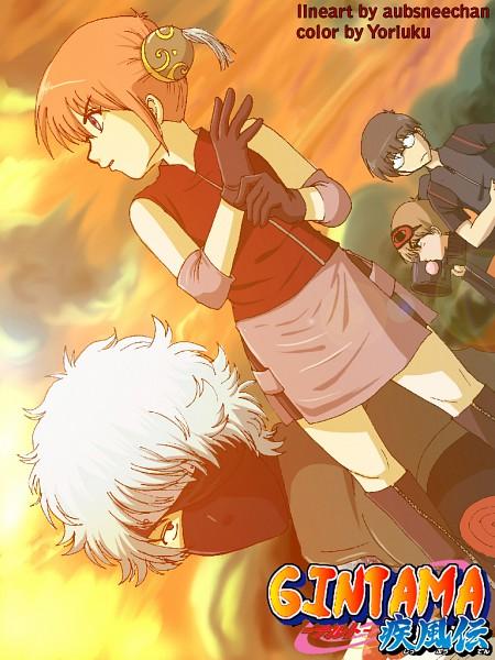 Tags: Anime, Gintama, Sakata Gintoki, Kagura (Gin Tama), Shimura Shinpachi, Okita Sougo, Sai (Cosplay), Rocket Launcher, Haruno Sakura (Cosplay), Hatake Kakashi (Cosplay), Uzumaki Naruto (Cosplay), Sleep Mask, Artist Request, Silver Soul
