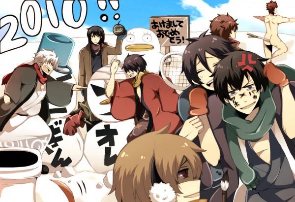Tags: Anime, Gintama, Katsura Kotaro, Okita Sougo, Ko Elizabeth, Hijikata Toushirou, Kondo Isao, Takasugi Shinsuke, Sakamoto Tatsuma, Sakata Gintoki, Pixiv