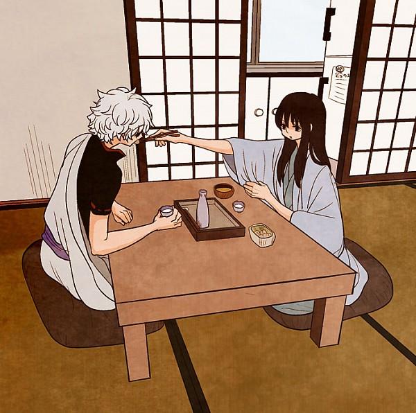 Tags: Anime, Higuchi00, Gintama, Sakata Gintoki, Katsura Kotaro, Soup, Refrigerator, Pixiv, Fanart, GinZura