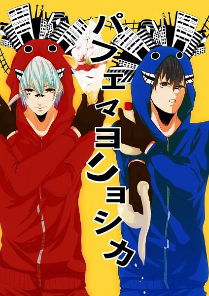 Tags: Anime, Pixiv Id 937433, Gintama, Hijikata Toushirou, Sakata Gintoki, Mayonnaise, Matryoshka, Fanart, Mobile Wallpaper, Pixiv