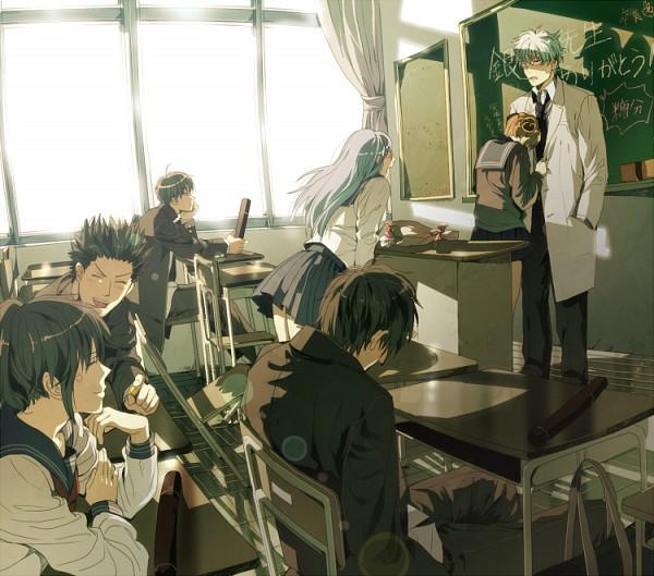 Tags: Anime, Natsuchiku, Gintama, Hijikata Toushirou, Shimura Tae, Sakata Gintoki, Ginpachi-sensei, Kagura (Gin Tama), Kondo Isao, Okita Sougo, Sarutobi Ayame, Chalkboard, Diploma, Silver Soul
