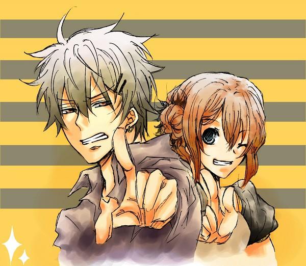 Tags: Anime, Togashi (Isagot), Gintama, Kagura (Gin Tama), Sakata Gintoki, Fanart From Pixiv, Fanart, Pixiv, GinKagu