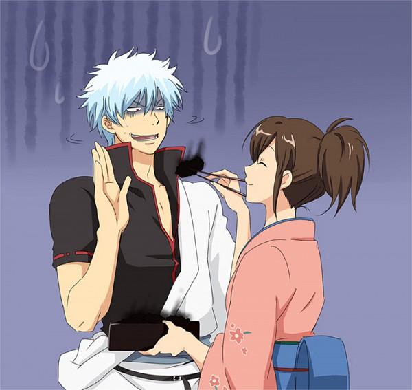 Tags: Anime, Pixiv Id 292401, Gintama, Shimura Tae, Sakata Gintoki, Inedible Food, Fanart From Pixiv, Fanart, Pixiv, GinTae, Silver Soul