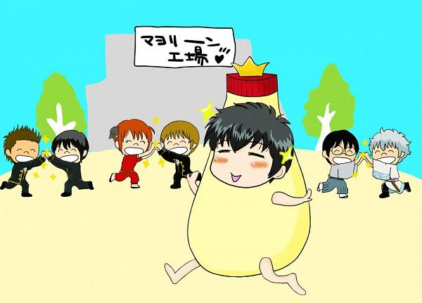 Tags: Anime, Pixiv Id 3121290, Gintama, Hijikata Toushirou, Kondo Isao, Sakata Gintoki, Kagura (Gin Tama), Shimura Shinpachi, Okita Sougo, Yamazaki Sagaru, Mayonnaise Costume, Mayonnaise, Pixiv