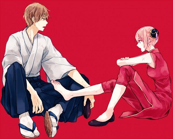 Tags: Anime, Ura, Gintama, Okita Sougo, Kagura (Gin Tama), Single Shoe, OkiKagu, Silver Soul