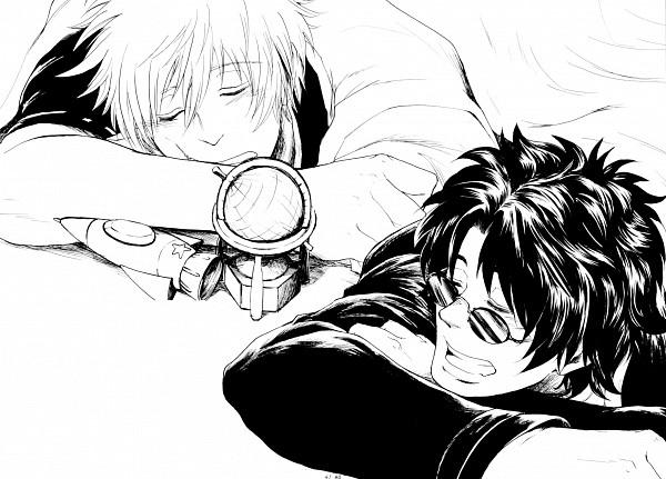 Tags: Anime, Gintama, Sakamoto Tatsuma, Sakata Gintoki, Artist Request