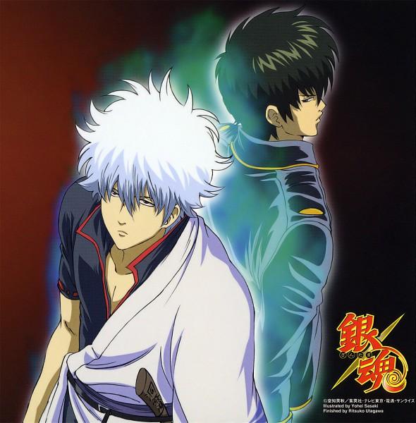 Tags: Anime, Gintama, Sakata Gintoki, Hijikata Toushirou, Scan, CD (Source), Official Art, Silver Soul